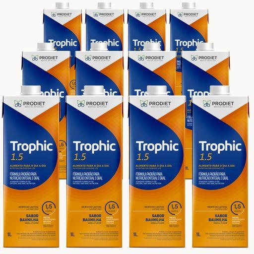 Trophic 1.5 Baunilha - Kit 12 unidades